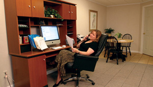 enjoy your new basement home office in Owings Mills, PA, DE, and MD