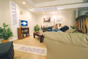 Our TBF System are high quality wall, floor, and ceiling products that will leave your basement beautiful.
