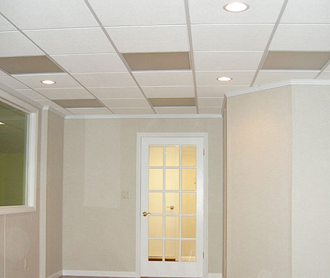 How To Install Basement Ceiling Tiles. Total Basement Finishing Has A Ceiling System Uniquely Suited For Basements A Drop Ceiling Is Ideal For A Basement Giving You Access To Plumbing And