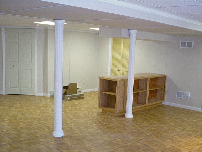Adding Those Finishing Touches For Your Finished Basement In PA - Basement support pole wraps