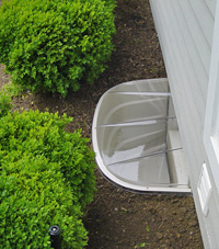 basement egress window well in Owings Mills