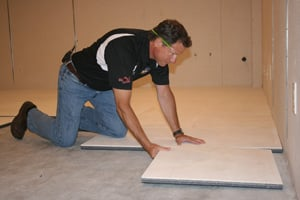 professional Basement finishing installation