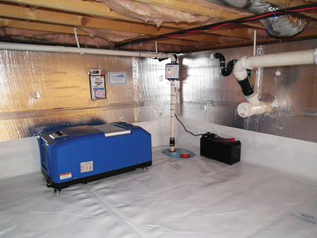 vapor barriers support jacks more for dry healthy crawl spaces in