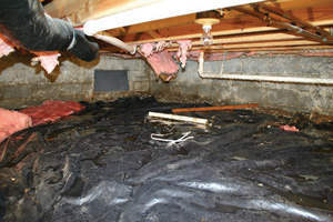 Crawl Space Repair Before in Philadelphia