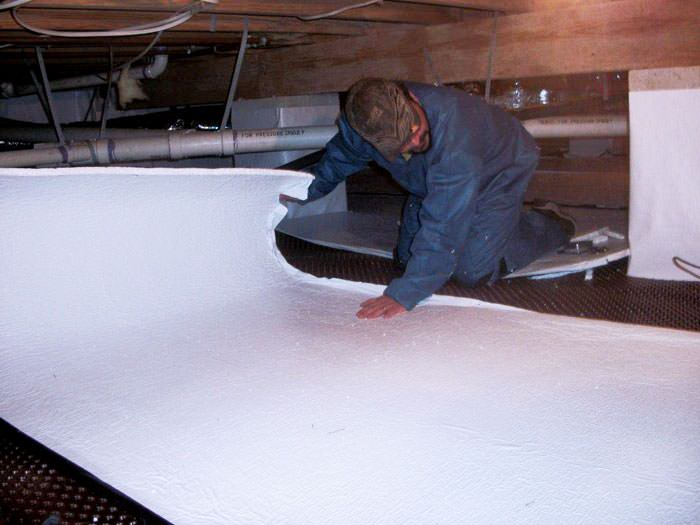 Crawl space insulation with terrablock in pennsylvania Crawl space flooring
