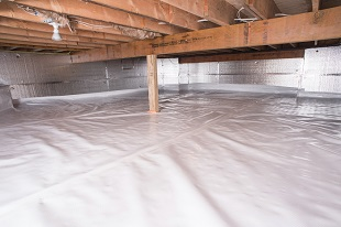 crawl space vapor barrier in Lancaster installed by our contractors