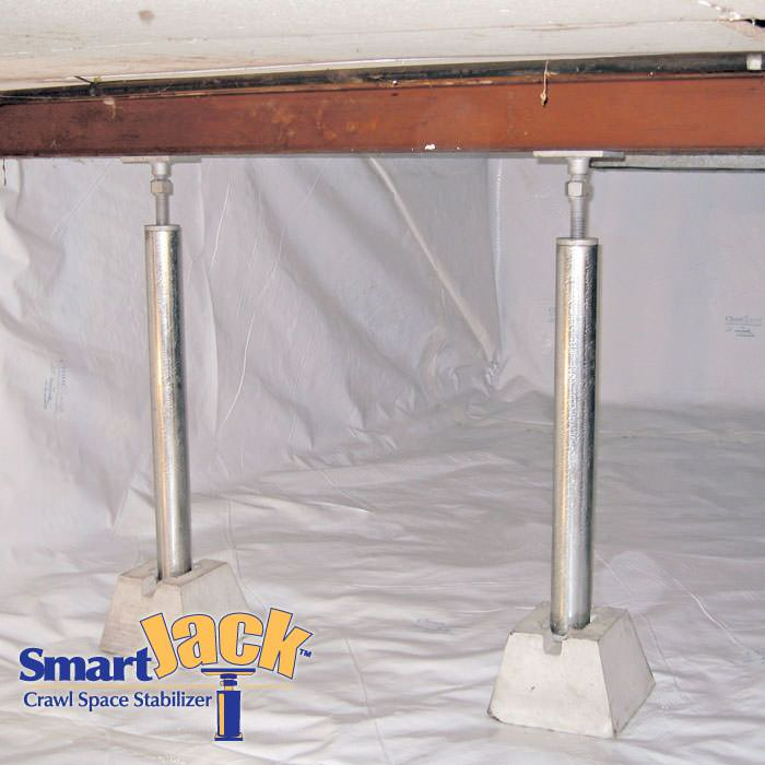 crawl space structural support jacks in pa de and md crawl space