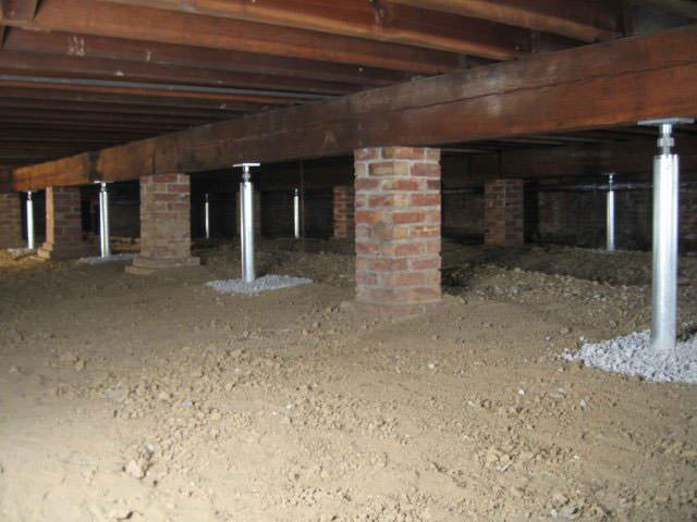 crawl space jacks installed in philadelphia wilmington baltimore by