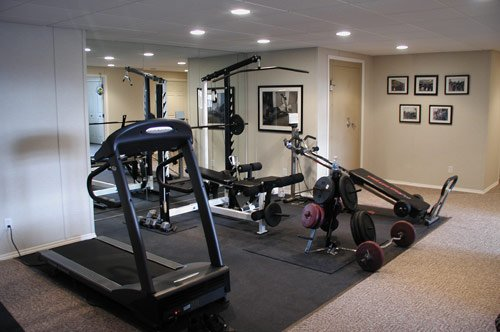 installing a basement fitness center in Baltimore