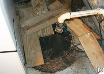 An ugly, clogged sump pump system in Lancaster, Pennsylvania, Delaware, and Maryland