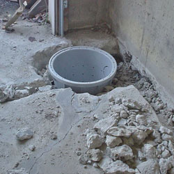 Placing a sump pit in a Owings Mills home