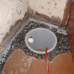Installing a sump in a sump pump liner in a West Chester home