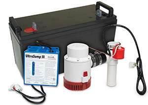 a battery backup sump pump system in Catonsville