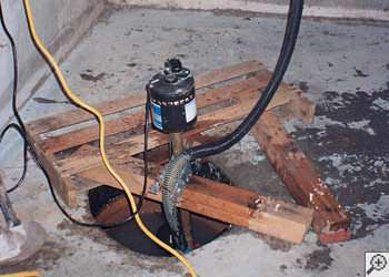 A Elkton sump pump system that failed and lead to a basement flood.