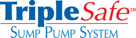 Sump pump system logo for our TripleSafe™, available in areas like Yorklyn