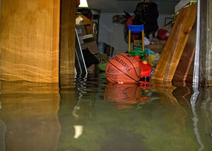 A flooded basement bedroom in Landenberg