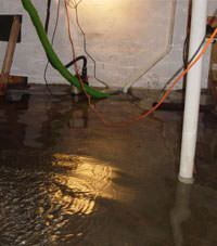 Several feet of floodwaters in a Marriottsville basement