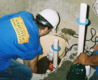 installing a sump pump and backup sump pump system in Hockessin, Berwyn, Chadds Ford, PA, DE, and MD