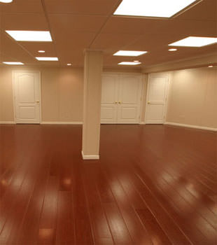Rosewood faux wood basement flooring for finished basements in Philadelphia