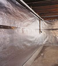Radiant heat barrier and vapor barrier for finished basement walls in Haverford, Pennsylvania, Delaware, and Maryland